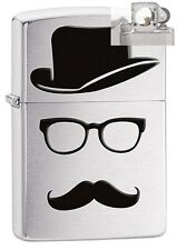 Zippo 28648 moustache and hat Lighter with PIPE INSERT PL
