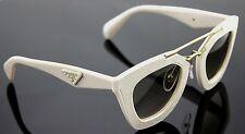 $700 Genuine PRADA MILANO Ornate Saffiano Cuir Leather Sunglasses SPR 14S UFP3H2