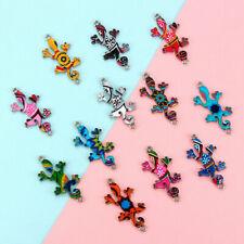 Necklace Charm Making DIY Wholesale Jewelry Color Gecko Mixed Connectors 10Pcs