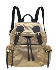 Burberry Prorsum Backpack Medium Gold Satin New