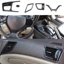 5X ABS  Carbon Fiber  Interior Trim Cover  FOR HONDA 2012-2015 9th Civic AT