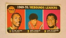 1970-71 Topps Basketball #5 Rebounds Leaders Hayes Unseld Alcindor - EXMT