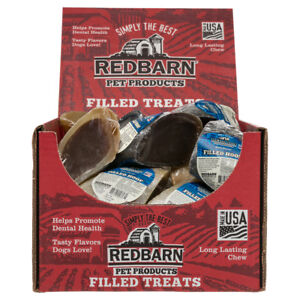 Redbarn Peanut Butter or Beef Filled Cow Hooves Dog Treats  (Free Shipping)
