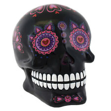 Mexican Skull Money Box Day Of The Dead Candy Black Design