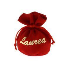 12 PZ Sacchetto Portaconfetti palla ROSSO con scritta LAUREA oro 10 cm 085K 70232000b91b