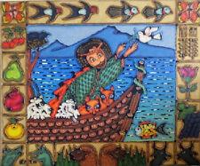 NOAH's ARK Noah Noy Biblical Mt Ararat AMIRKHANYAN Russian ARMENIAN Oil PAINTING