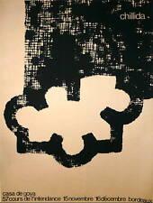 Eduardo Chillida Affiche originale en sérigraphie art abstrait abstraction