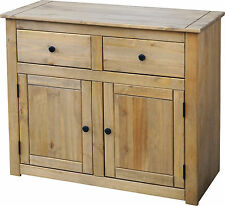 Panama 2 Door 2 Drawer Sideboard in Natural Wax Pine - Next Day Delivery