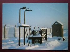 POSTCARD MAIL EXCHANGE APPARATUS IN WINTER AT DIDCOT RAILWAY CENTRE
