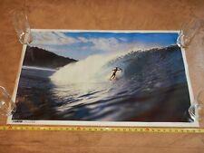 """Original 1987 Surfer Magazine Poster """"Perfect Symmetry"""", Max Medeiros, Nos"""