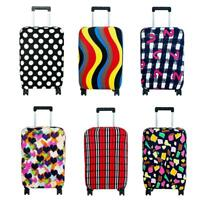 Elastic Printed Luggage Covers Trolley Travel Suitcase Dust Protective Bags P4PM