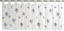 Kitchen Drape Half Curtain Window transparent Lavender floral white blue 198688
