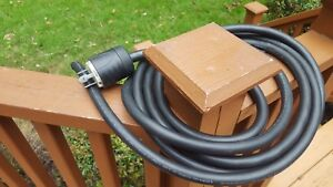 Pass & Seymour L1530P Male Plug 30A 250V Twist Lock W/ 15' Coleman Cable AWG10