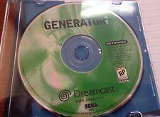 Sega Dreamcast Generator Vol 2 GAME DISC ONLY