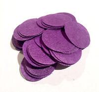 """1.5/"""" black felt circles 50 pieces die cut appliqués for flower /& bows"""