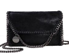 Stella McCartney Falabella Style Black Handbag Chain Shoulder Crossbody Bag New