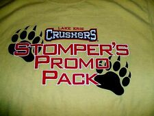 Lake Erie Crushers MiLB Yellow Medium T-Shirt Stomper Promo ESPN Radio WKNR