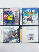 Lot of 4, Nintendo DS Games w/ Cases Robocalypse, Sims Agents, Namco Museum