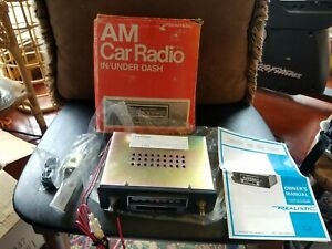 Vintage 1970's Realistic Model 12-1352 AM Car Radio In/Under Dash New in Box WOW
