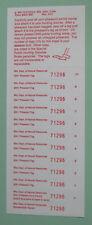 2001 Wisconsin Dnr Pheasant Hunting License Stamp Tag Sheet.Free Shipping!