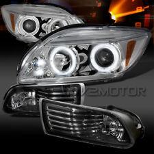 2005-2010 Scion tC Chrome LED Halo Projector Headlights+Smoke Fog Lights+Switch