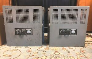 Pair  Motiograph  MA-7505 Tube Amplifier ~ 1940's Theater Amps ~western electric