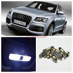 2009-2012 Audi Q5 White Car LED Interior Light Package Error Free Bulbs 12pcs