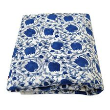 5 Yards Handmade Block Printed Natural Cotton Fabric Dress Sewing Material HDB2