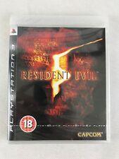 PS3 Resident Evil 5, UK Pal, Brand New & Factory Sealed, Tiny Dent