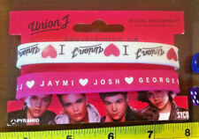 Union J  Bracelets Wristband Pink White Official New Music Pop Band