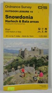 1985 Old OS Ordnance Survey Outdoor Leisure 1:25000 Map 18 Snowdonia Harlech etc
