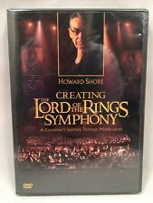 Creating the Lord of the Rings Symphony DVD Howard Shore NEW SEALED