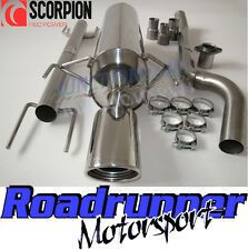 Scorpion Exhaust Astra MK5 1.4 1.6 1.8 2.0T SRI Non Res System LOUDER & Cut Out