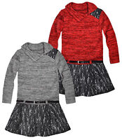 Girls Winter Dresses New Kids Long Sleeved Knitted Tweed Dress Ages 3-4 Years