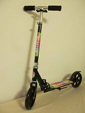 Big Wheels Adult and Teenager Kick Scooter Black Portable Assembled