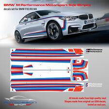 BMW M Performance Motorsport Side Stripes decals Set for F82 M4