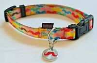 Bobby PRESTIGE Dandy Small Dog Collar With 20mm Engraved ID Tag Moustach Medal
