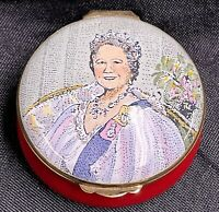 CRUMMLES ENGLISH ENAMEL Trinket BOX - 80th BIRTHDAY OF THE QUEEN MOTHER