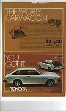 Original 1977 Toyota Corolla Liftback Magazine Ad - The Sports Carwagon