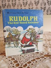RUDOLPH the RED-NOSED REINDEER Tell-A-Tale Golden 1989 HC Christmas Santa