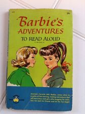 Vtg Barbie'S Adventures To Read Aloud Paperback Pb Book 1964 Wonder Books Mattel