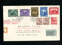 Czechoslovakia Registered & Flown Stamp Cover From 1945