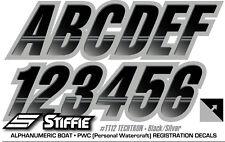 STIFFIE Techtron TT37 Boat PWC Letter Number Decal Registration BLACK YELLOW