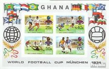 Ghana Block58B (complete.issue.) unmounted mint / never hinged 1974 Football