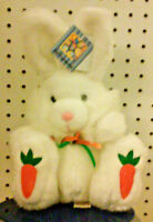 "WHITE PLUSH BUNNY - DAN DEE - COLLECTORS CHOICE - VERY SOFT - 11"" HIGH - EASTER"