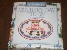 Longaberger 1997 Mother's Day Timeless Memories Basket Tie-On