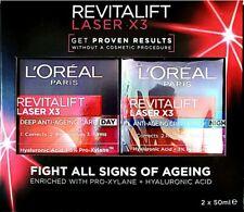 L'Oreal Paris Revitalift Laser X3 Day Cream 50ml + Night Cream 50ml BundleAnti-