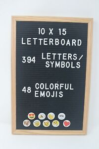 10x15 Letterboard with 394 Letters and Symbols and 48 Colorful Emojis