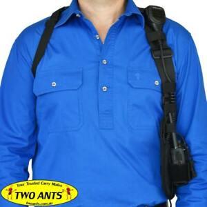 Radio Holster Harness - Left - Black - Two Ants Ghost SE000LBK
