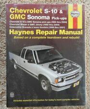 1994-2004 CHEVY S-10 BLAZER GMC SONOMA JIMMY SUV PICKUP TRUCK REPAIR MANUAL